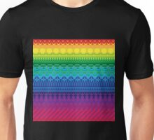 rainbow of pixels pattern Unisex T-Shirt