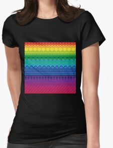 rainbow of pixels pattern Womens Fitted T-Shirt