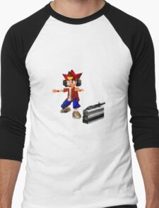 サルゲッチュ Men's Baseball ¾ T-Shirt