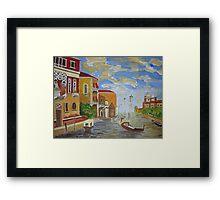 Italian Canal. Framed Print