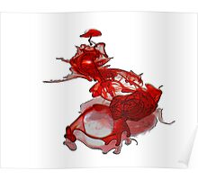 Exploded Heart Poster