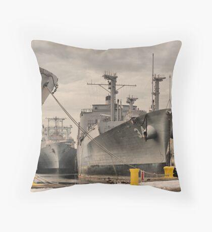 Philly Naval Shipyard Throw Pillow