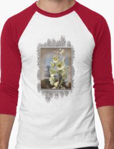 Single Buttercream Hollyhock Men's Baseball ¾ T-Shirt