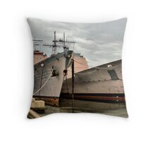 Philly Naval Shipyard Throw Pillow