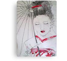 geisha girl Canvas Print