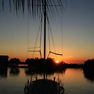 Placencia sunset by Barry Hobbs