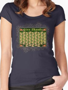 Give Thanks Women's Fitted Scoop T-Shirt