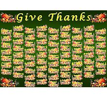 Give Thanks Photographic Print