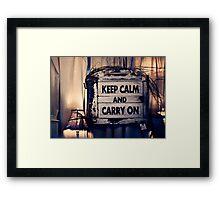 Keep Calm && Carry On Framed Print
