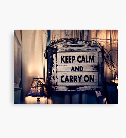 Keep Calm && Carry On Canvas Print