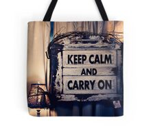Keep Calm && Carry On Tote Bag