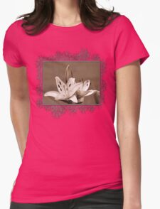 Asiatic Lily named Rosella's Dream Womens Fitted T-Shirt
