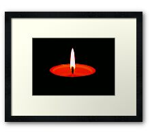 Single Flame ©  Framed Print