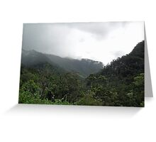 Tully Gorge Scene Greeting Card