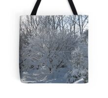 Ornamental Tree Bathed In Fresh Snow Tote Bag