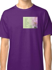 Serenity Prayer Pink Rhododendrons Classic T-Shirt