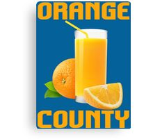 ORANGE COUNTY Canvas Print