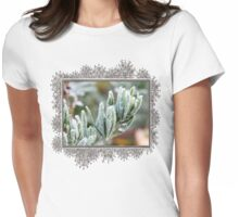 Frosty Lotus Berthelotii Womens Fitted T-Shirt