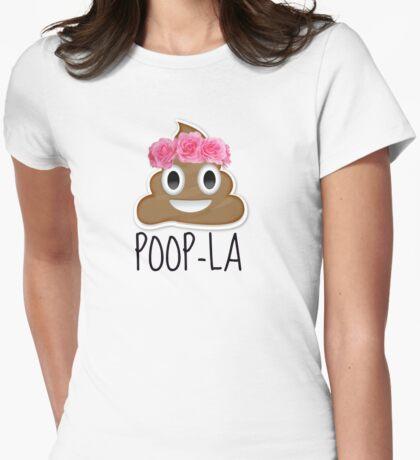 poop emoji Womens Fitted T-Shirt