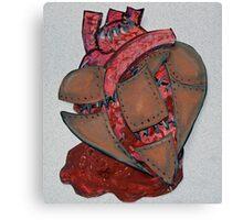 Armour Plated Heart Canvas Print