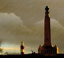 Plymouth Hoe at Dawn, Devon, UK  by buttonpresser