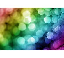 Rainbow Bokeh Photographic Print