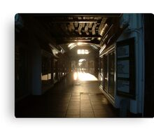 Hitchin Arcade Canvas Print