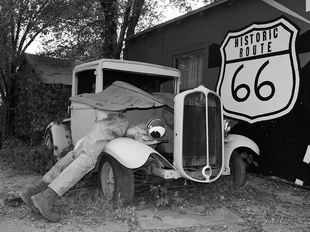 Broken down at Seligman on Route 66 by Alex Cassels