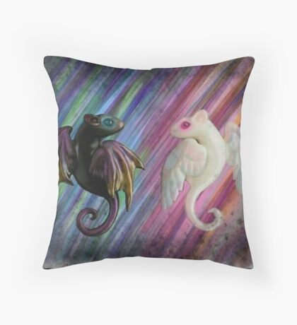 Rat Angels Throw Pillow