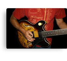 Signed Guitar Canvas Print
