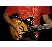 Signed Guitar Photographic Print