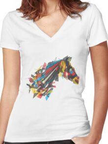 beygir (horse) Women's Fitted V-Neck T-Shirt