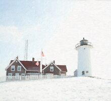 Nobska Light House by Michael  Petrizzo