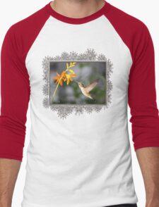 Female Ruby-Throated Hummingbird Men's Baseball ¾ T-Shirt