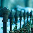 Cold iron fence. by Edward Mahala