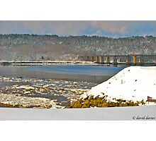 Sissiboo River and Old Railway Bridge Photographic Print