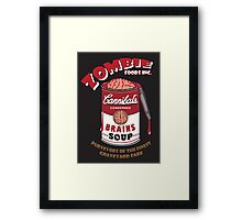 Canned Zombie Framed Print