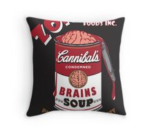 Canned Zombie Throw Pillow