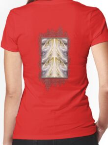Nonstop Apple Blossom Abstract Women's Fitted V-Neck T-Shirt