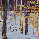Winter Woods oil painting by ArtLuver