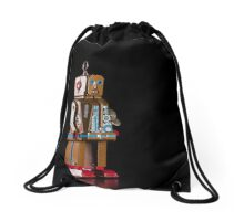 Tinplate Robot Drawstring Bag