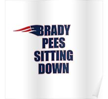 Brady Pees Sitting Down Poster