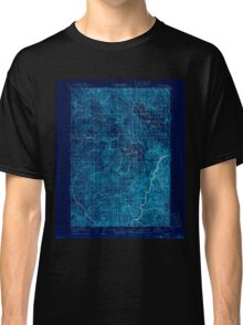 USGS Topo Map Oregon Pine 283240 1915 125000 Inverted Classic T-Shirt