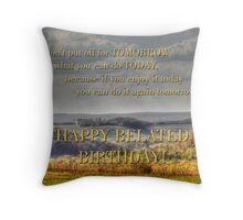 Belated Birthday for jdadkin Throw Pillow