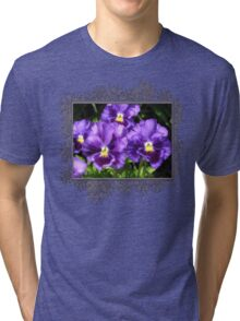 Pansy from the Chalon Supreme Primed Mix Tri-blend T-Shirt