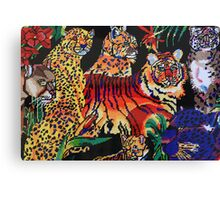 Tigers Forest Canvas Print
