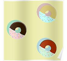 A Trio of Half-Dipped Donuts Poster