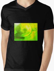 Green Vinyl & The Famous Mens V-Neck T-Shirt
