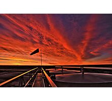 "Sunrise over the "" Bakken ""  Photographic Print"