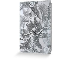 Window Frost Greeting Card